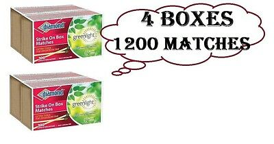 4 Pack Diamond Strike On Box Greenlight Matches 300 Count Each