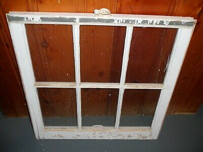Vintage Antique Wood Window 6 Pane Sash 28 X 28 Picture Fame Pintrest