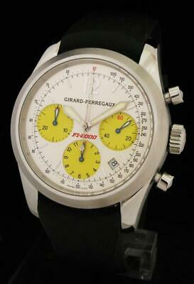 AWESOME 40mm GIRARD PERREGAUX FERRARI F1-2000 World Champ CHRONOGRAPH WATCH 4956
