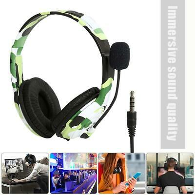 Camouflage Wired Headset Gaming Headphones Earphones w/Mic for Xbox One PS4
