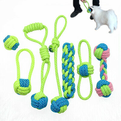 Braided Cotton Dog Chews Interactive Toys Dogs Bite Training Rope for Pet Play
