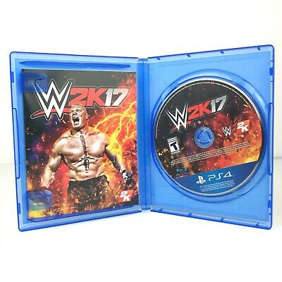 WWE 2K17 (Sony PlayStation 4, 2016) Complete PS4 Wrestling Video Game