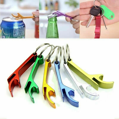 10x Bottle Opener Key Ring Chain Keychain Metal Beer Bar Tools Creative Opener