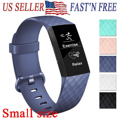 For Fitbit Charge3 Waterproof Silicone Sport Bracelet Replacement Band Strap
