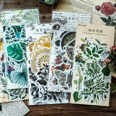 Laptop Photo Journal Plant Stickers Diary Label Phone Decor Paper DIY-Stationary