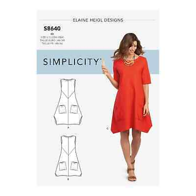 Simplicity Sewing Pattern 8640 Womens Sz 20W-28W Loose Fitting Dress or Tunic