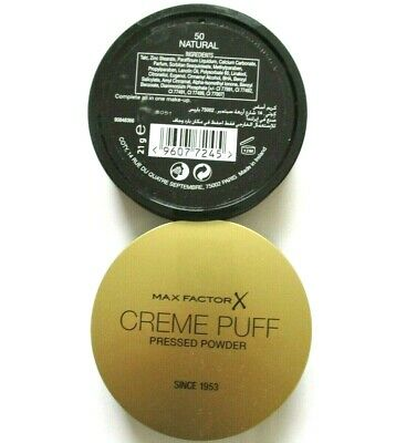 MAX Factor Creme Puff Compact Powder 21g - VARIOUS SHADES USE DROP DOWN MENU
