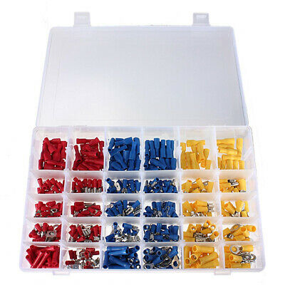 480PCS Insulated Male/Female Electrical Wire Terminal Crimp Connector Spade Kit