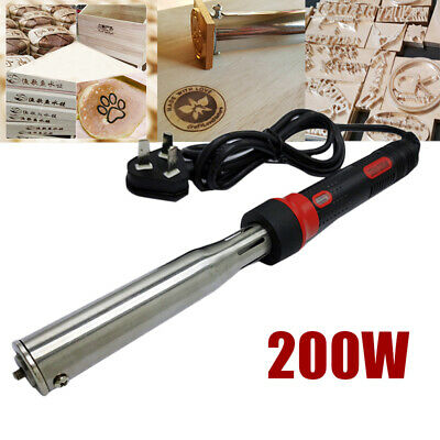 1x 200W Portable Stamping Leather Heat Branding Machine Wood Embosser Kits