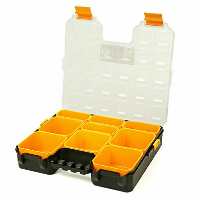 9 Compartments Professional Tool Organiser Case Box Storage Screw Nail Nut Bolt