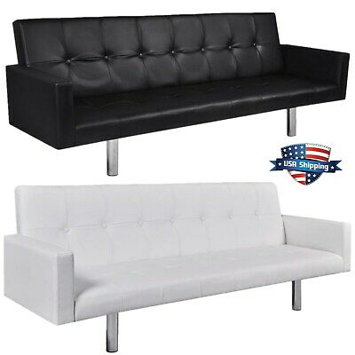 Awe Inspiring Artificial Leather Sofa Sleeper White Couch Furniture Living Pabps2019 Chair Design Images Pabps2019Com