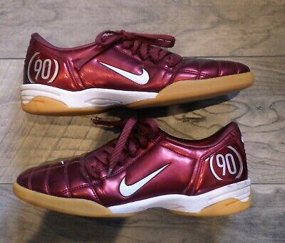 nouveau style 3bc68 4476b NIKE T90 TOTAL Ninety 90 III 365 R9 Maroon Indoor Soccer Turf Shoes  Trainers US8