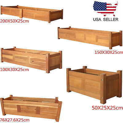 5 Size Sky Garden Planter Wooden Garden Bed Flowers Plant Display Free Ship R