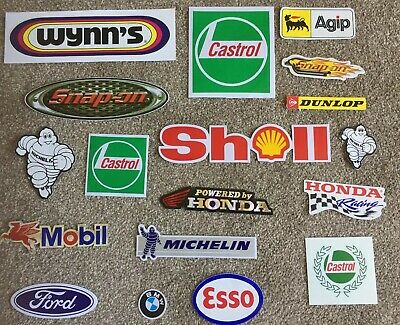 Snap On - Toolbox Graphics Decals Vinyl stickers X 18 Shell Ford Castrol Honda &