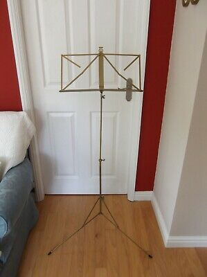 Vintage metal extendable high music stand