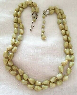Lovely Vintage Hand Knotted Glass Necklace