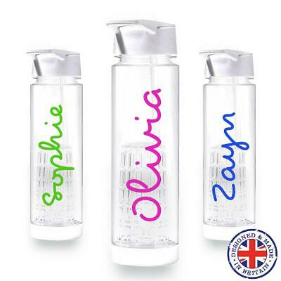 Personalised Love Island Text Name Water Bottle Sticker Custom Decal Transfer
