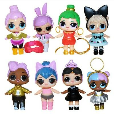 8 Pcs Lol Surprise Doll Lil Sisters LIL Cute Baby Tear Open Kid Toy Doll Gift