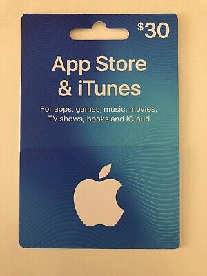 $30 Apple App Store and iTunes Gift Card