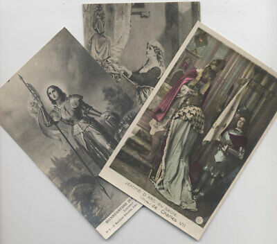 LOT 3 CARTES sur JEANNE D'ARC - 3 CPA