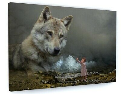 Wolf Animal Abstract Canvas Picture Print Wall Art D17