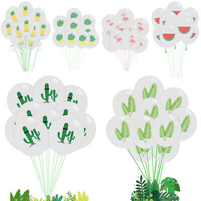 "10Pcs 12""  Flamingo Pineapple Leaf Cactus Latex Balloon Party Birthday Decor New"