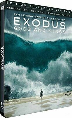 Blu Ray + DVD : Exodus Gods and Kings 3D - Ed Steelbook - NEUF