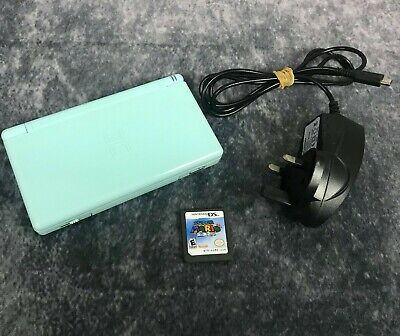 Turquoise Nintendo DS Lite Console Bundle With Super Mario 64 Game & Charger