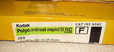 82 Sheets Kodak 8x10 Polycontrast Rapid II RC Photo Paper