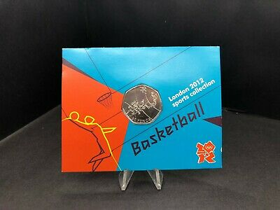2011 Carded Olympic Basketball UK 50p Fifty Pence Brilliant Uncirculated