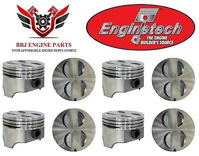 FLAT TOP PISTONS /& MOLY RINGS 1963-1968 Ford Car 289 4.7L OHV V8 4BBL
