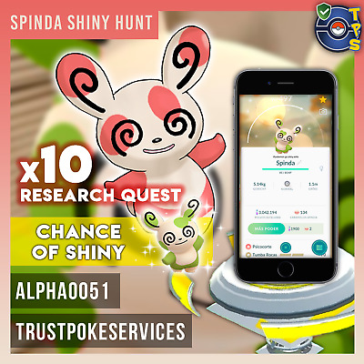 Pokemon Go Spinda Research Quests x10 - Shiny Hunt - Shiny Chance