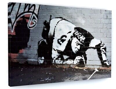Banksy Sniff Snorting Cop Canvas Picture Print Wall Art D101