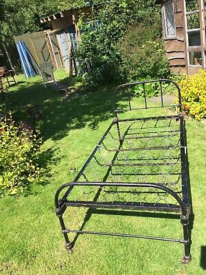 Bed Cast Iron Antique Single Metal Frame Wrought Iron Black