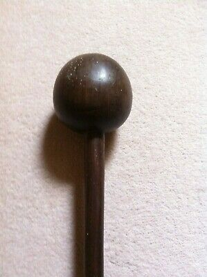 A fine zulu knobkerry club, large head, 9 cm diameter south african, tribal