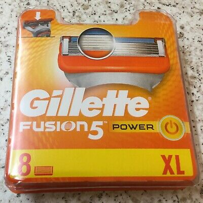 Pack of 8 Gillette Fusion 5 Power XL (  100% Genuine Product )