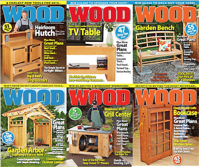 WOOD Magazine (2 DVDs) 1984-2019 *250+ PDF's Issues* +Extras Woodworking Joinery