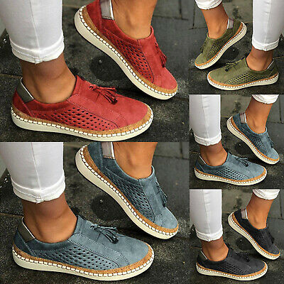 Women Ladies Breathable Slip On Trainers Pumps Summer Casual Comfy Loafers Shoes
