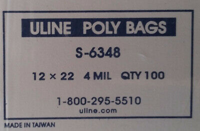 """200 Poly Bags 12""""x 22""""  4 Mil Industrial Plastic bags Flat open top.L700"""
