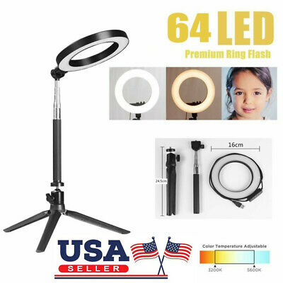 LED Ring Light Dimmable Photography Camera Photo Studio Phone Video Tripod Lamp