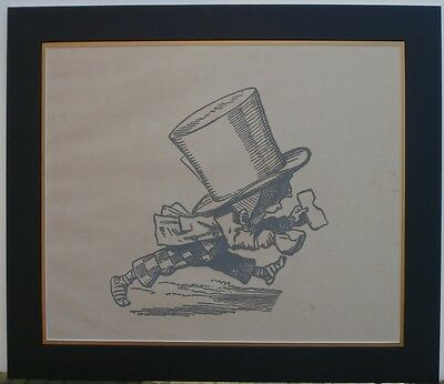 Artist Lithograph Mad Hatter Print Lewis Carroll Novel Alice In Wonderland !