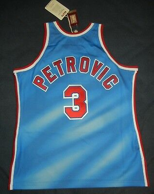 best cheap 9e2d9 141ef DRAZEN PETROVIC MITCHELL & Ness M&N NEW JERSEY NETS AUTHENTIC Jersey 44 NBA  NWT