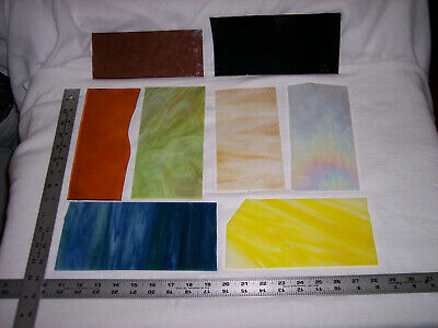9+ Lbs. Small To Larger Beautiful Stained Glass Pieces - Mosaics/Suncatchers - T
