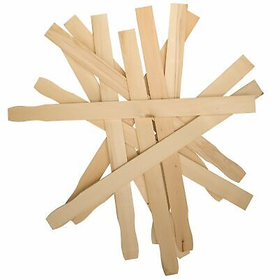 Paint Stir Sticks 100 Pack Paddle for Mixing Epoxy Resin Smooth Adaptable Wood