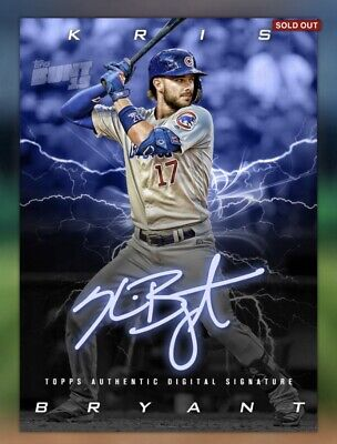 Topps Bunt 2019 Kris Bryant Charged Signature Sig (100 Cc)