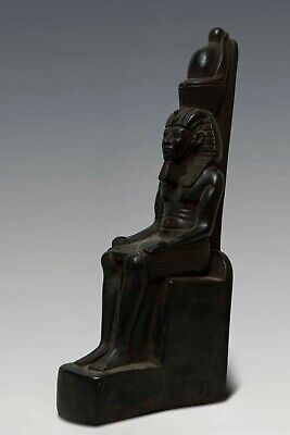 Large EGYPTIAN STATUE ANTIQUES RAMESSES II Egypt King PHARAOH Carved STONE BC