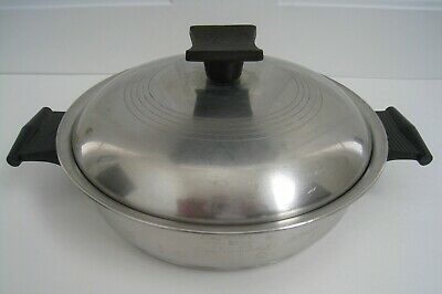 Vintage Rena-Ware 3-Ply 18-8 Stainless Steel 1½ Quart Double Handle Cookware Pot
