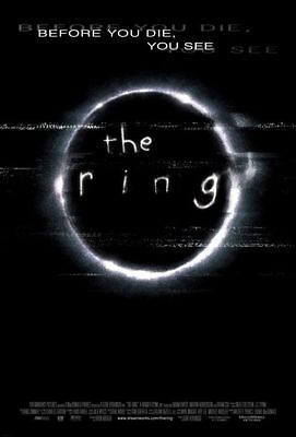 """THE RING 2002 Original DS 2 Sided 27x40"""" US Movie Poster Naomi Watts Brian Cox"""