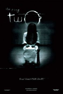 """THE RING TWO 2005 Original DS 2 Sided 27x40"""" US Movie Poster Naomi Watts S Baker"""