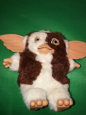 "Gremlins Gizmo w/Smile Happy Face 5"" Plush Figure Mogwai NECA  Rubber Ears Feet"